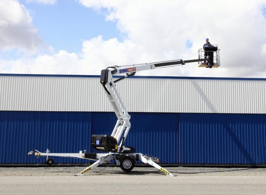 Коленчато - телескопический прицепной подъемник DINO 180XT II